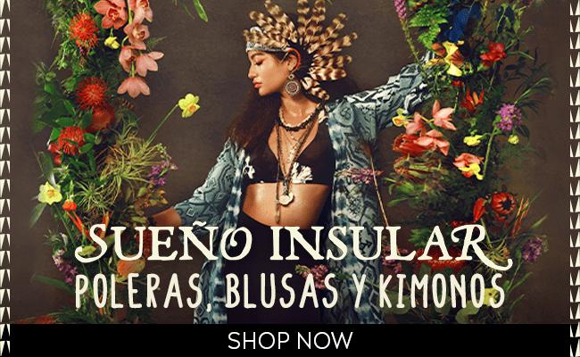 poleras, blusas y kimonos