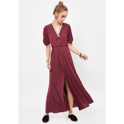 f7391b84a Vestido Print Largo Abotonado Rojo - Umbrale