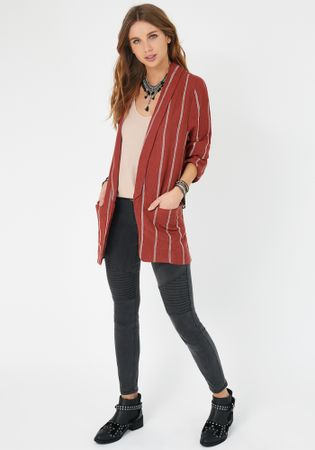 Chaqueta_Blazer_Twin_Set_Terracota_1